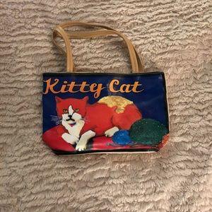 Handbag with Kitty Cat Graphic.